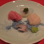 鮨処 美な味 - ほたて。NZミナミマグロと春子鯛