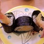 かっぱ寿司 - 海老天巻き105円(2014.03.11)