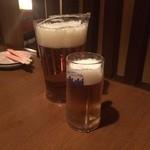 温しゃぶ居酒屋 かぐら - ビールピッチャー