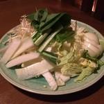 温しゃぶ居酒屋 かぐら - ざく切り野菜