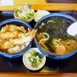 手打ちうどん 丸亀 - 天丼セット ¥950