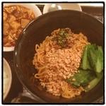錦里 - 汁なし担々麺に麻婆豆腐つけるというチャレンジ