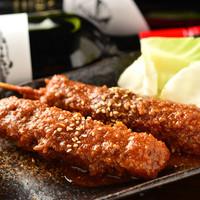 まぐろ神社 - めばちまぐろのネギマ串カツ味噌あじ