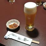 さらしな総本店 - 生ビール(550円)
