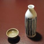さらしな総本店 - 日本酒(柏露)大(1050円)