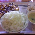 鮮菜 - 麻婆豆腐定食大盛り