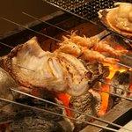 やけぼっくい - 当店のウリでもある、炭火で炙られた魚はよけいな脂も落ちておいしさを引き出します。