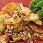 西安刀削麺酒楼 - 【期間限定】秋の彩り野菜のスパイシー山椒炒め