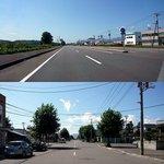 松尾ジンギスカン 滝川本店 - 札幌から高速を走って滝川ICで降りて一般道を走ってお店に向かいます。