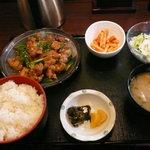 庄や - 鶏肉ネギ塩炒め定食