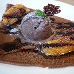 TOOTH TOOTH GARDEN RESTAURANT - ☆バナナのキャラメリゼとチョコレートのクレープ(≧▽≦)~♡☆