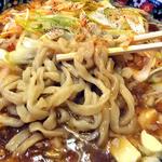 麺屋 忍 - 背脂マーボー麺(玉ねぎトッピング)