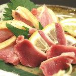 九州料理 くらら - 鶏刺し盛り合わせ