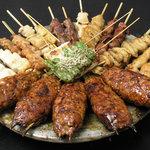 九州料理 くらら - 串焼き盛り合わせ