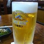 魚ゃ一心 - 生ビール