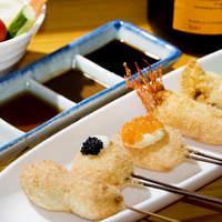串かつ 丸田 - 四季折々の厳選食材を使いあっさりと揚げた串カツのコースです