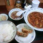 Ikomaken - ランチのなすの辛し炒め定食(880円)です
