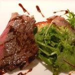 庄吉庵 - 牛背肉のソテー りんごのカラメリゼと(1日目)