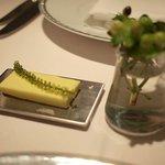 レストラン ヒロミチ - バター(海ブドウ添え)
