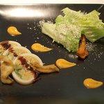 レストラン ヒロミチ - 江戸前穴子のグリエとロメインレタスを詰めたヤリイカのファルシー