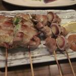 純平 - 豚巻き(アスパラとみょうが巻き)