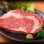 七輪 - 料理写真:網焼きステーキ
