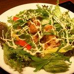 ぎをん庭 - マグロ天丼 サラダ仕立て