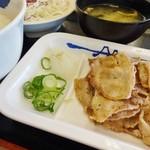 松屋 - 豚バラ焼肉定食(増量キャンペーン)