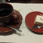 和のふ - こーひーと杏仁ホワイトケーキ
