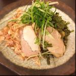 辛部 - のりかつおつけ麺 普通盛り 700円