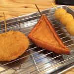 串カツ田中 - 山芋、はんぺん、うずら