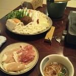 24942564 - 夕食のメインは味噌鍋。具材もたっぷり。