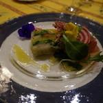 ル カフェ プランタニエ - 野菜のテリーヌ・・・写真は料理のみ\10,500円のコース