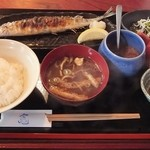 竃 - 秋刀魚の塩焼き御膳♪