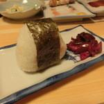 食い道楽 - 明太子のオニギリ