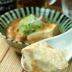 テング酒場 - もつ煮豆腐 さっぱりとしたお豆腐に、ぷりっぷりのモツが◎一度食べたらヤミツキに!!¥378