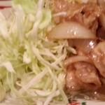 串かつ かつ~ん - ランチ豚の生姜焼き定食 2014.3