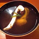 そばきり 沙羅の花 - 【天然】鰻の肝吸いに松茸を入れて…