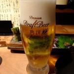 さかなや いぬい - アサヒ熟撰 生ビール(中):530円