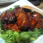 24977476 - 黒酢酢豚(さの萬豚肉)