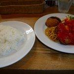 グリル マルヨシ - 鶏肉のトマト風味1200円