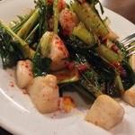 24980185 - お野菜の苦味が絶妙。ホタテも美味い。