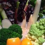 板前ごはん 音音 - 農園野菜のバーニャカウダ