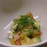 うじいえ - 料理写真:トマトとアボカドのクリームチーズ和え