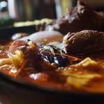 アジアンスープカリー べす - 南インドキーマスープのエビホタテ+ラム