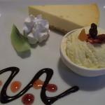 カフェ ムーンフォレスト - ニューヨークチーズケーキ ドリンク付き600円