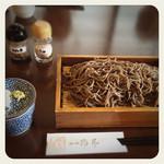 そば処 鴟尾 - 田舎蕎麦 大盛 1050+200円