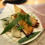 24996465 - 2014年3月 熊本の筍焼き 蕗のとう入り海老しんじょ 空豆・こごみの天ぷら