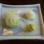 24998167 - 天ざる蕎麦(薬味)