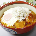 シラスのせ豚角煮カレー丼